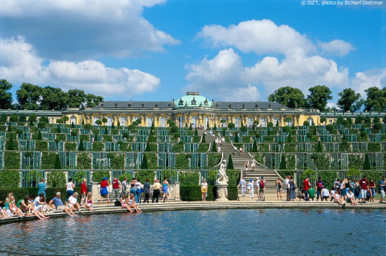 Germany: Potsdam: Sanssouci Castle