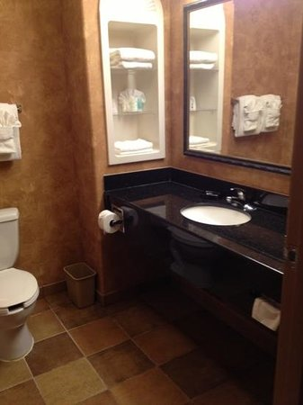Comfort Suites Marshall: the bathroom