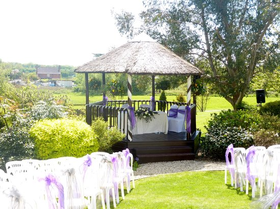 Battleborough Grange Country Hotel & Restaurant: Garden wedding