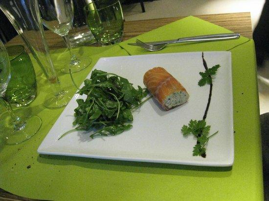 La Mandragore: cannelloni de saumon fumé
