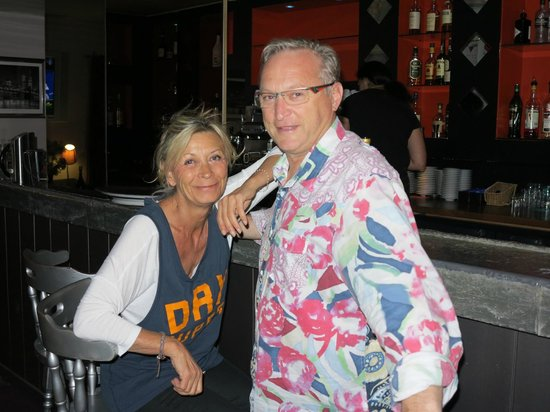 La Chapouliere Hotel : Le patron Didier et sa femme
