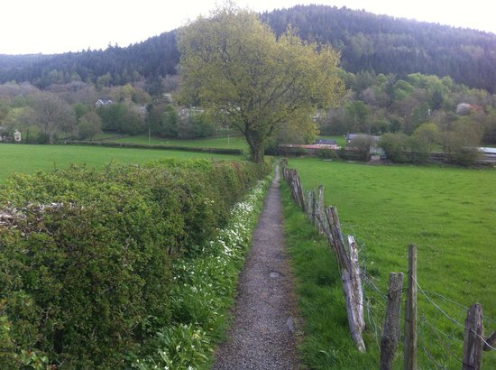 Maes-y-Garth: path into town