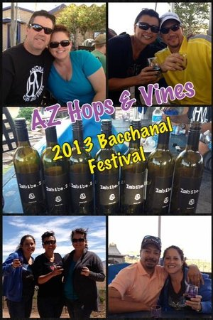 Arizona Hops and Vines: Friends enjoying the Bacchanal Festival