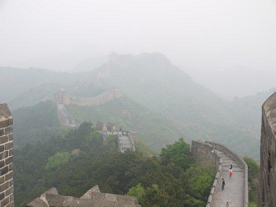 Jinshanling Great Wall: Amazing view, despite the smog