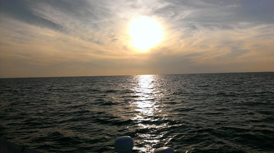 Broad Reach Charters: Sunset on the boat
