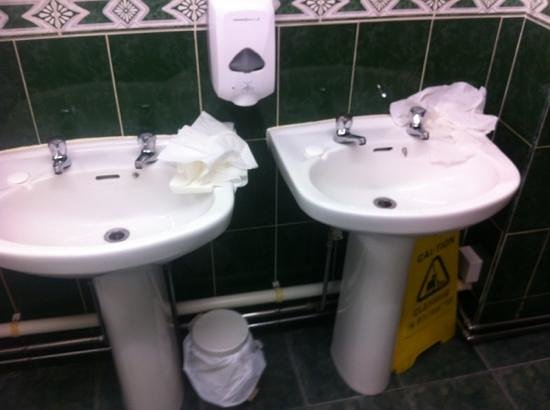 Gretna Hall: the communal toilets very messy