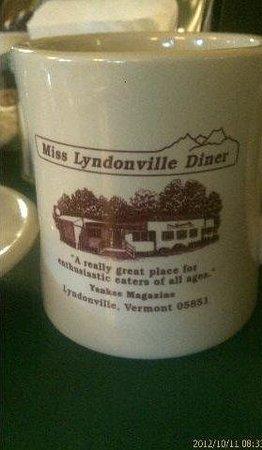 Miss Lyndonville Diner: Nice place, nice mugs