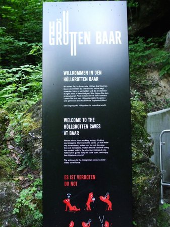 Hollgrotten: Sign at the Entrance