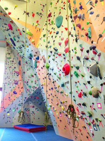 Spire Climbing Center: Spire's East lead walls