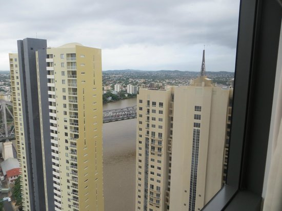 Meriton Serviced Apartments Brisbane on Adelaide Street: view from bedroom 32nd floor