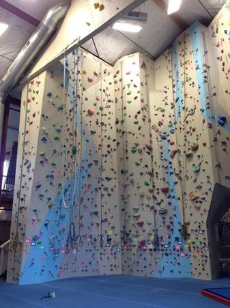 Spire Climbing Center: West toprope wall.