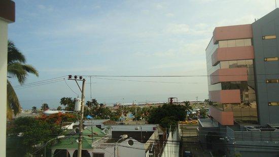 Balandra Hotel: Espectacular vista desde el balcon