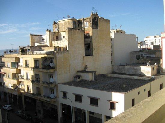 Hotel Rif: Blick aus dem Zimmerfenster in die Nebenstraße