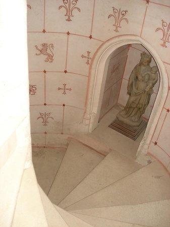 Chateau de Montriou : l'escalier