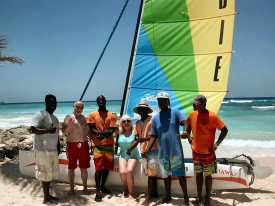 Turtle Beach by Elegant Hotels: captain Sam and Crew