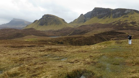 Seabound Bed and Breakfast: Walking The Quiraing, a few miles behind Seabound B&B