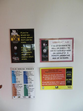 Gaia Retreat & Spa: pub-like notices in dining room