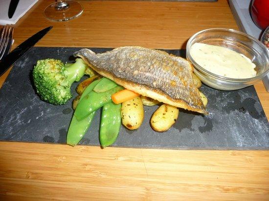 Blinq: Daurade et petits légumes