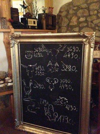 Öreg Harang : The menu