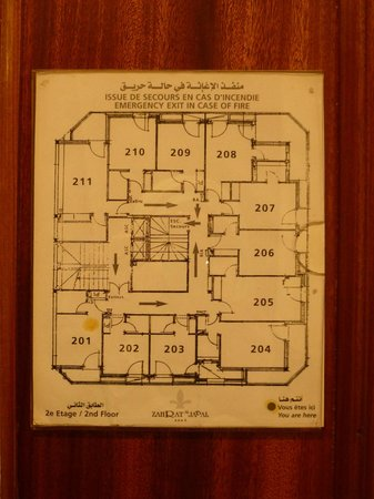 Zahrat al Jabal: The map of the floor I was on