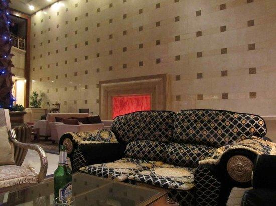 Fu Hong International Hotel: lobby chimney couch