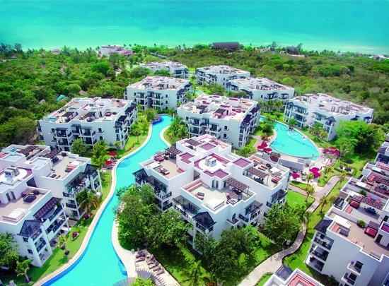 The Fives Azul Beach Resort Playa Del Carmen Aerial View