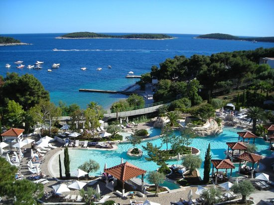 Amfora Hvar Grand Beach Resort Pool And Seafront