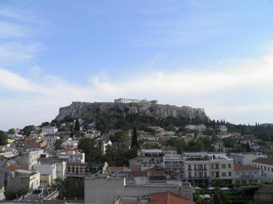 Plaka Hotel: Hotel Plaka, Athens, view from the roof terrace
