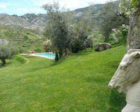 La Almunia del Valle : Garten mit Pool
