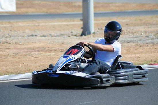 Autodromo Internacional do Algarve: eu a acelerar