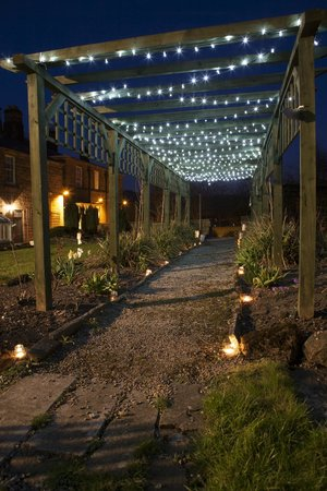 Alison House Hotel Outdoor Lighting Leading To Garden Room