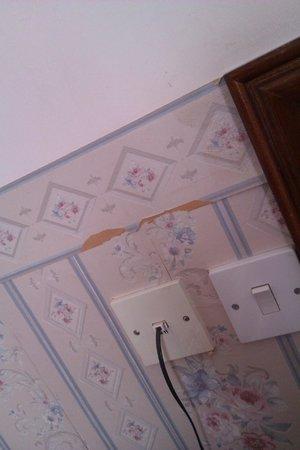 Star Hotel: No wallpaper here, been torn off.