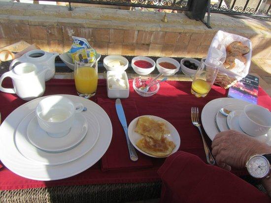Riad Adarissa: petit dejeuner