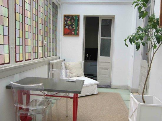 L'Hotel Particulier : Petit salon de la suite Prestige