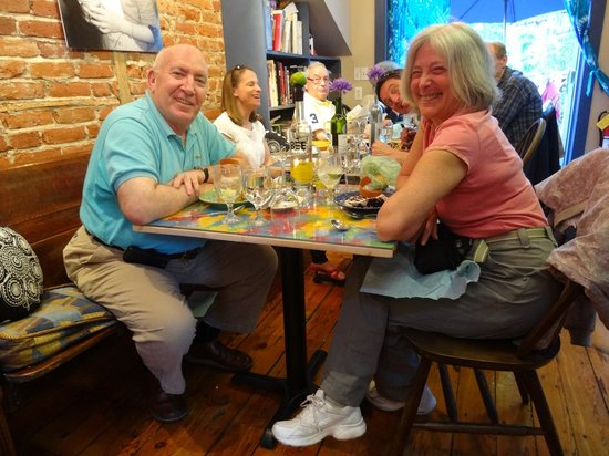 Blue Moose Restaurant & Cafe: Think you can tell we're enjoying it all