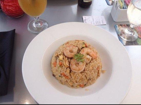 Drunken Fish - Westport Plaza: Combination Fried Rice with an Arnold Palmer(Tea & Lemonade)