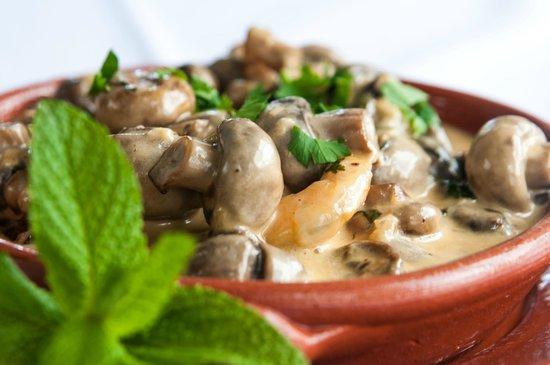 Restaurante O Trilho: Cogumelos à moda da casa
