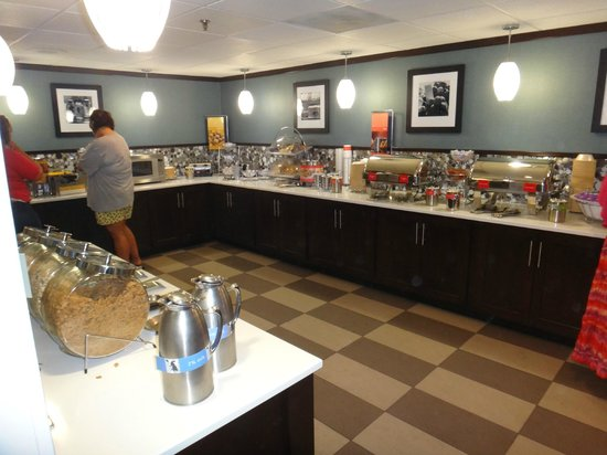 Hampton Inn Baltimore - Washington International Airport: Hot buffet
