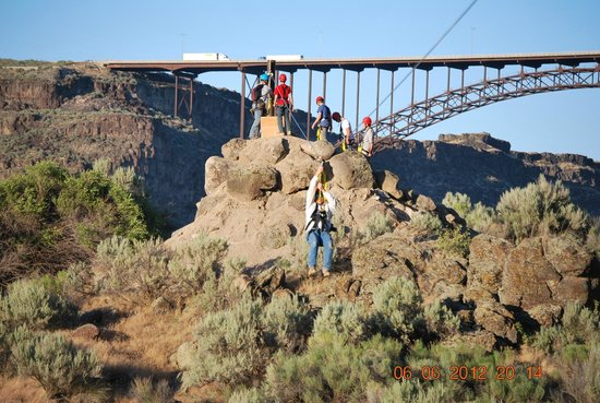 Twin Falls, ID: Beautiful scenery as you zip line along the Snake River Canyon!