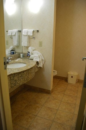 Comfort Suites: Your spouse will have space for all her ointments