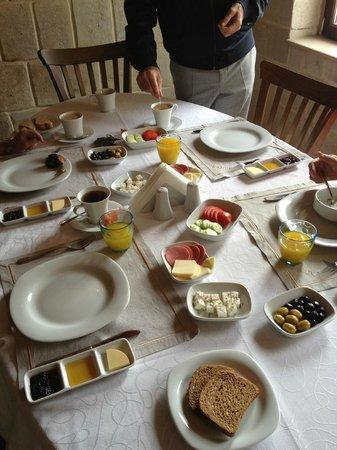 Tafoni Houses: nuestro desayuno..