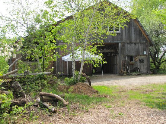 Morgan House Bed and Breakfast and Wool Works Studio: the barn- we held appetizers etc between ceremony and reception
