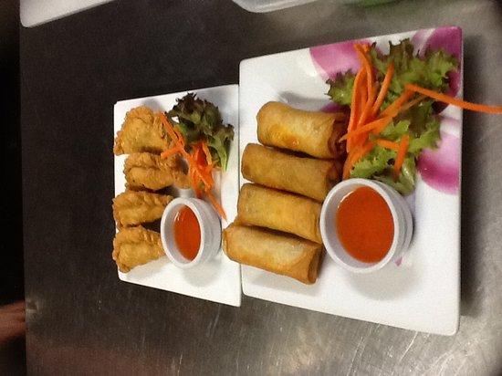 Menu Thai Restaurant: curry puff &spring roll