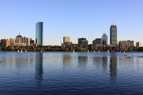 Charles River Bike Path: Late afternoon on the bike path, view from the Cambridge side.