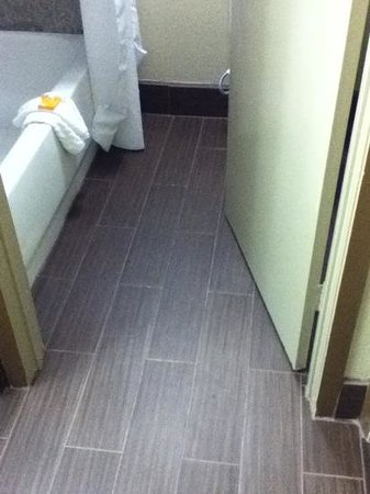 La Quinta Inn Sweetwater : new flooring in bathroom and room entryway