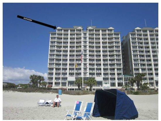 Hampton Inn & Suites Myrtle Beach/Oceanfront: our room...top left!