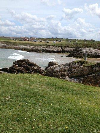 Ermita de la Virgen del Mar: Playa de la Virgen del Mar desde la isla