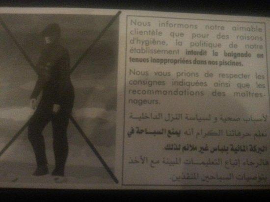 โรงแรมเลอซูลตาน: La feuille de la discrimination.