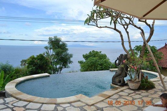 Paradise Bungalows Bali: Infinity Pool, Amed