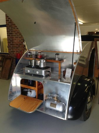 Jack Sisemore Traveland RV Museum: back of the 1946 Tear Drop Kit..